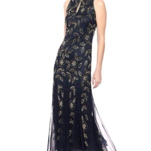 Pisarro Nights Women's Long Beaded Dress-Size 14